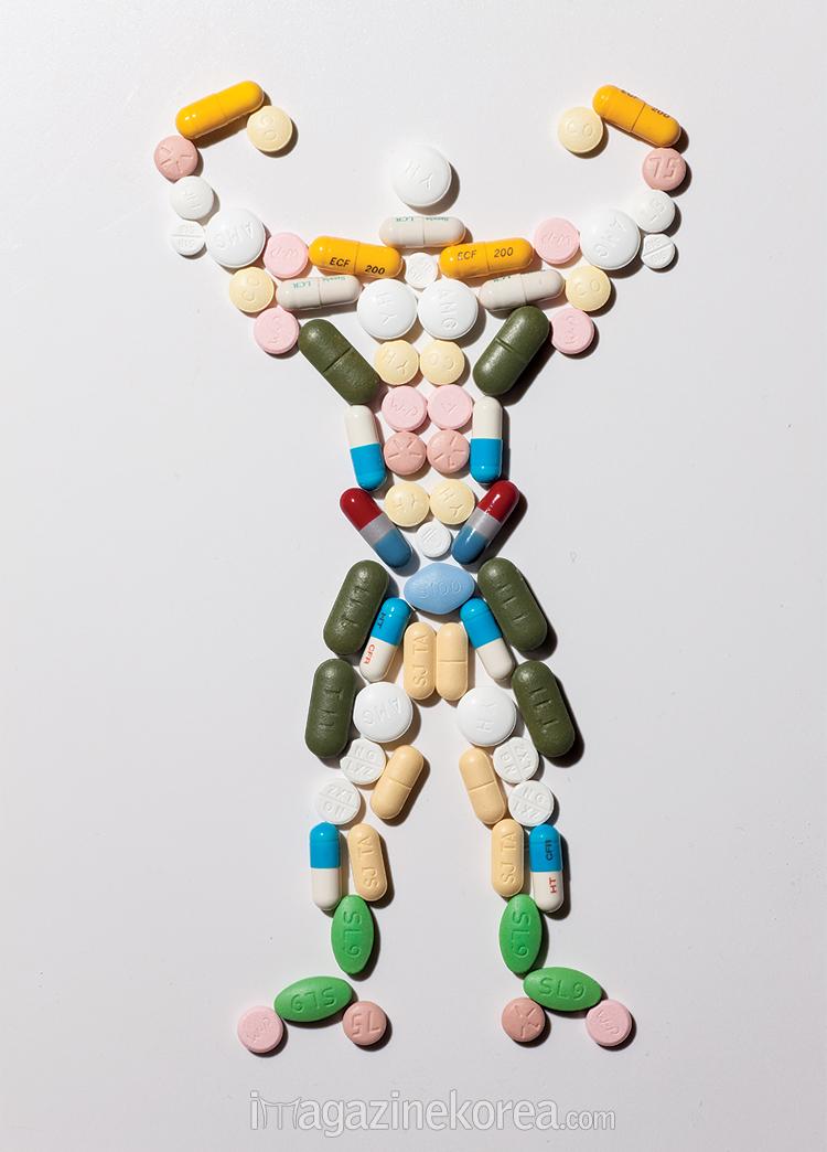 약으로 불린 근육, 만족하십니까?