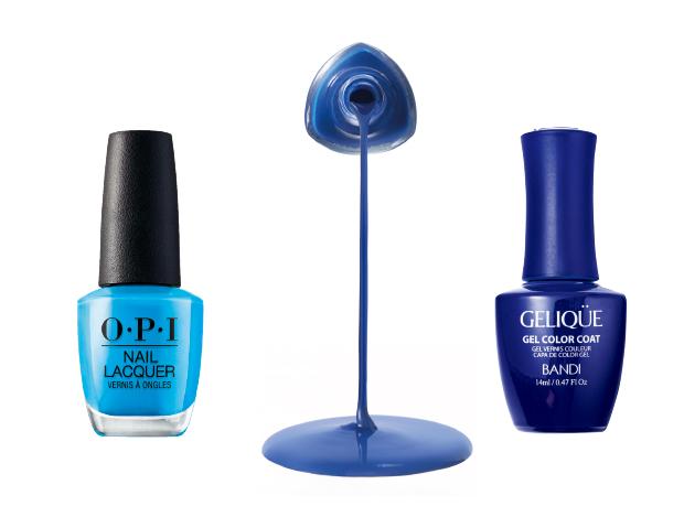 다양한 변주가 가능한 블루 네일