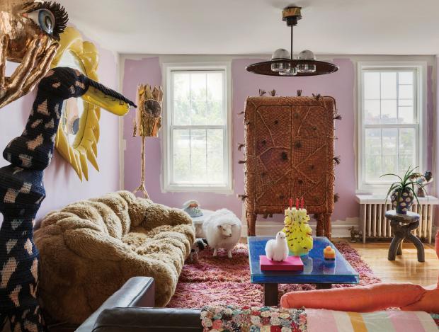 강렬한 개성의 가구 디자이너 미샤 칸의 집