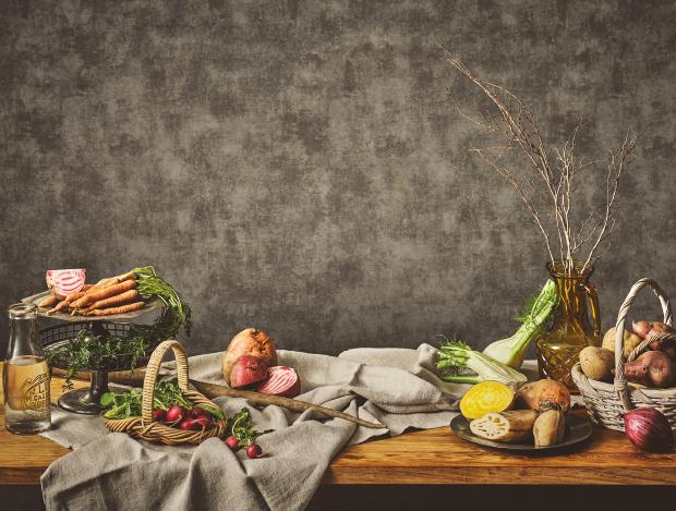 풍성한 가을 뿌리채소 식탁