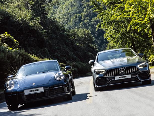 도로를 접수하라! 포르쉐 911 카레라 S & 메르세데스 AMG GT 4도어 쿠페